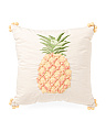 Made In India 18x18 Embroidered Pineapple Pillow