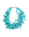 Made In Usa Beaded Coral Necklace