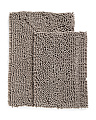 Set Of 2 Chenille Bath Rugs