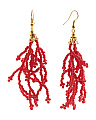 Made In Usa Beaded Tassel Earrings