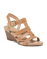 Derica Strappy Leather Mid Wedges