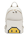 Mini Pixel Smiley Leather Backpack
