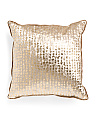 22x22 Oversized Velvet Metallic Pillow