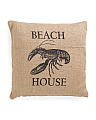 Made In India 20x20 Beach House Pillow
