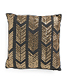 18x18 Sequin Arrow Faux Linen Pillow