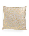 20x20 Foil Dot Printed Textured Pillow