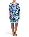 Plus Pucci Flower Shift Dress