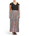 Plus Tribal Medley Maxi Dress