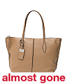 Made In Italy Joy Textured Leather Tote