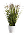Faux Grass Plant In Marble Pot