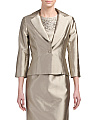 Metallic Button Front Jacket