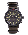 Men's Scout Dual Time Nylon Nato Strap Watch