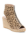 Made In Spain Espadrille Leather Wedges