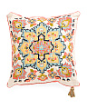 20x20 Chainstitched Medallion Pillow