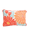 20x14 Floral Chainstitch Pillow