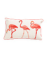 24x14 Chainstitch Flamingo Pillow