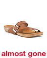 Made In Spain Strappy Foot Bed Leather Sandals