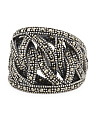 Made In Thailand Sterling Silver Marcasite Woven Ring