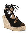 Made In Spain Leather Lace Up Wedges