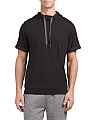 Cross Up Short Sleeve Hoodie
