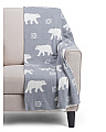 Made In India Polar Bear Winter Throw