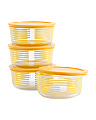4pk Simply Striped Storage Dishes