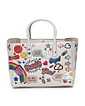 Made In Italy All Over Sticker Leather Bag