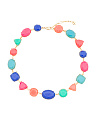 Multicolor Stone Collar Necklace