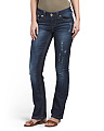 Slim Boot Embroidered Jeans
