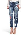 Paint Splatter Girlfriend Jeans