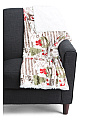Christmas Postcard Plush Throw
