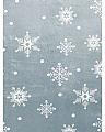 Reversible Snowflake Savannah Plush Throw