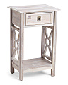 Cut Out Acacia Wood Side Table
