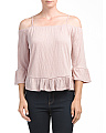 Cold Shoulder Knit Gauze Top