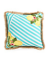 20x20 Indoor Outdoor Lemon Stripe Pillow