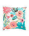 20x20 Indoor Outdoor Floral Pillow