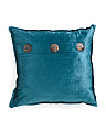 20x20 Velvet 3 Button Pillow
