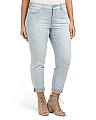 Plus Sylvia Relaxed Boyfriend Jeans
