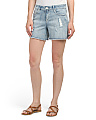 Side Slit Girlfriend Shorts