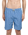 Gingham Check Swim Trunks