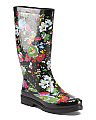Floral High Shaft Rain Boots
