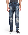 Fashion Moto Slim Straight Jeans