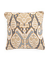 Made In India 20x20 Ikat Pattern Pillow