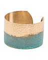 Made In USA Patina Hammered Cuff Bracelet