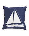 17x17 Reversible Sailboat Pillow