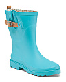 Waterproof Mid Calf Rain Boots