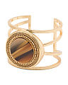 Disc Cut Out Detail Cuff Bracelet