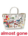 Made In Italy Small Ebury All Over Stickers Leather Bag