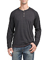 Long Sleeve Raglan Henley Top