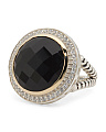 Made In Thailand Sterling Silver And 14k Gold Onyx Large Ring